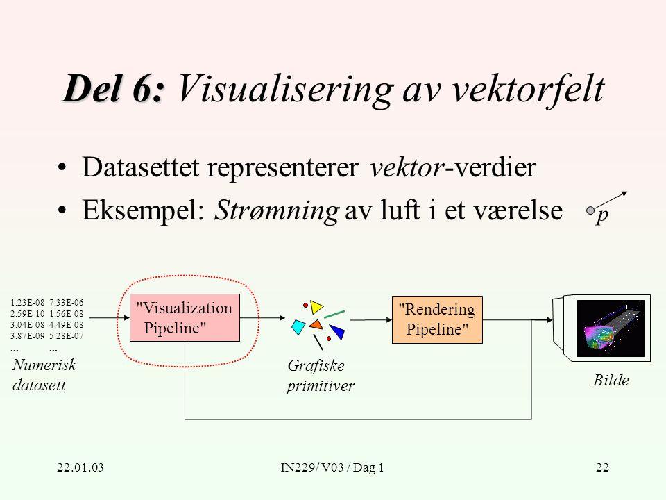 22.01.03IN229/ V03 / Dag 122 Del 6: Del 6: Visualisering av vektorfelt Numerisk datasett 1.23E-08 2.59E-10 3.04E-08 3.87E-09...