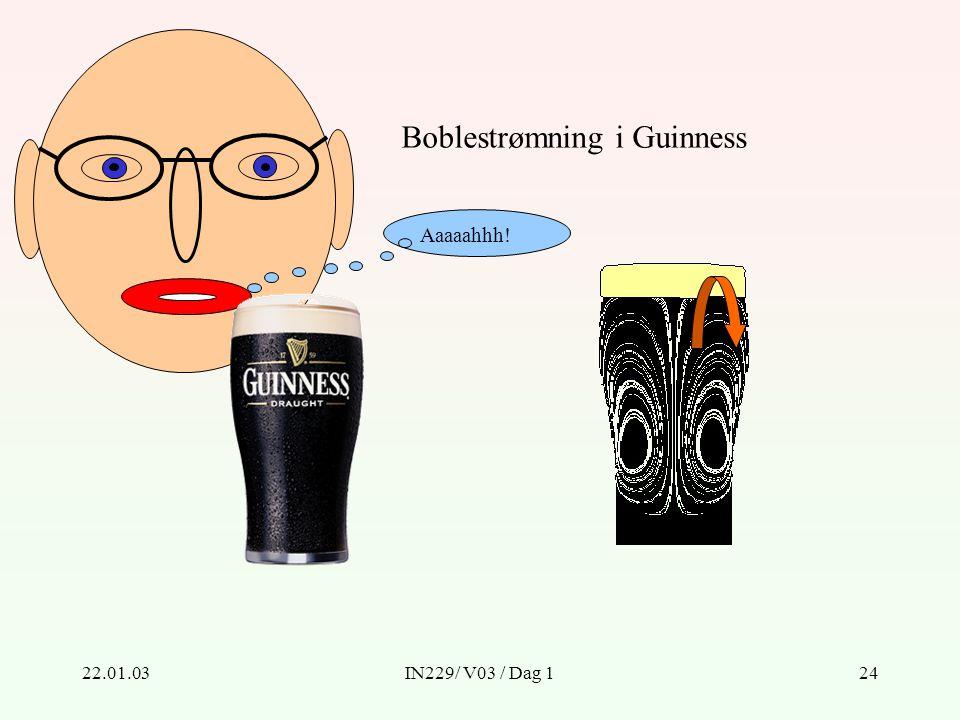 22.01.03IN229/ V03 / Dag 124 Boblestrømning i Guinness Aaaaahhh!