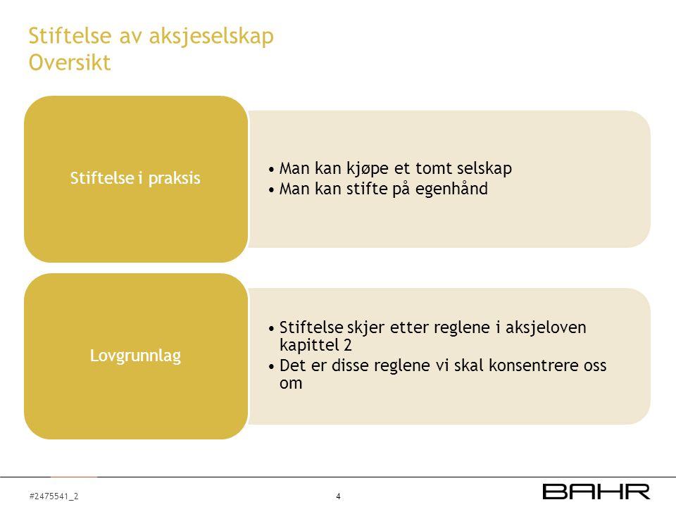#2475541_2 Organisering av ANS og AS Aksjeselskap - Generalforsamlingen Øverste myndighet, asl.