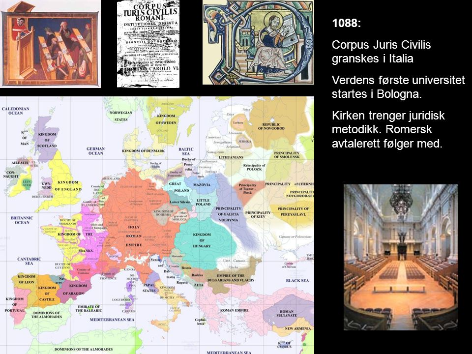 1274: Magnus Lagabøtes landslov trer i kraft i Norge.