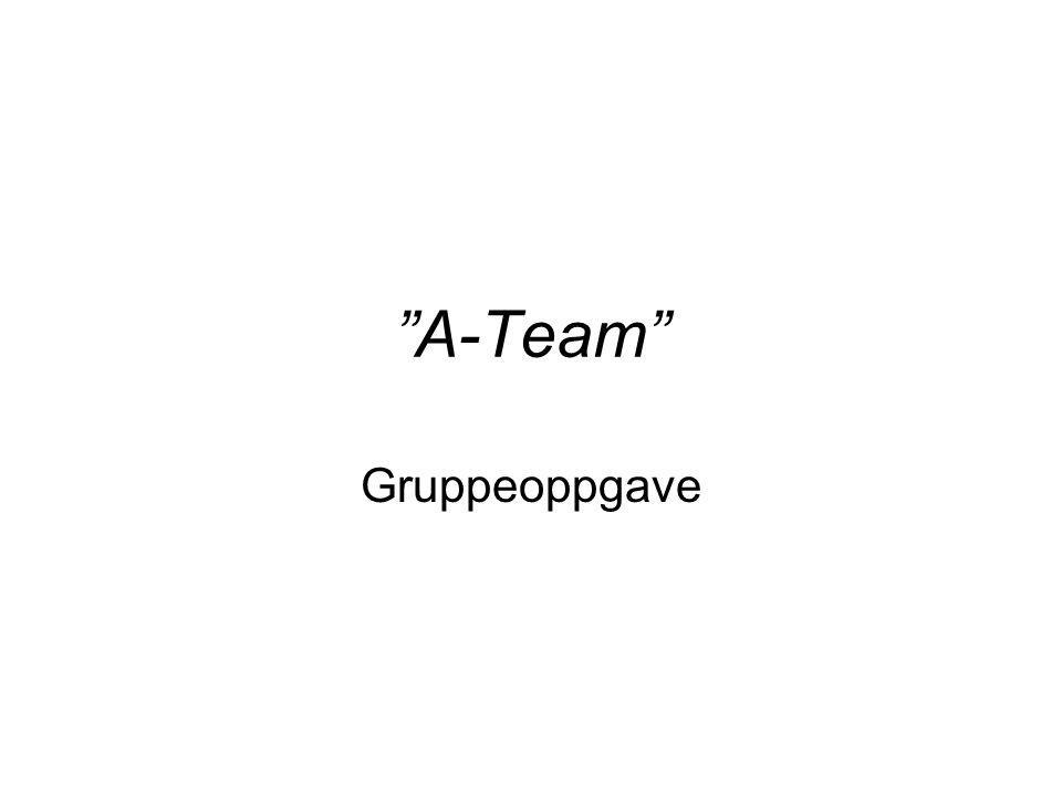 A-Team Gruppeoppgave