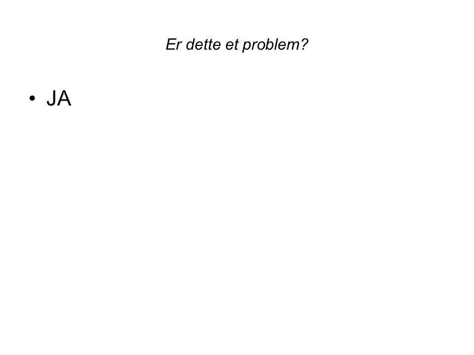 Er dette et problem? JA