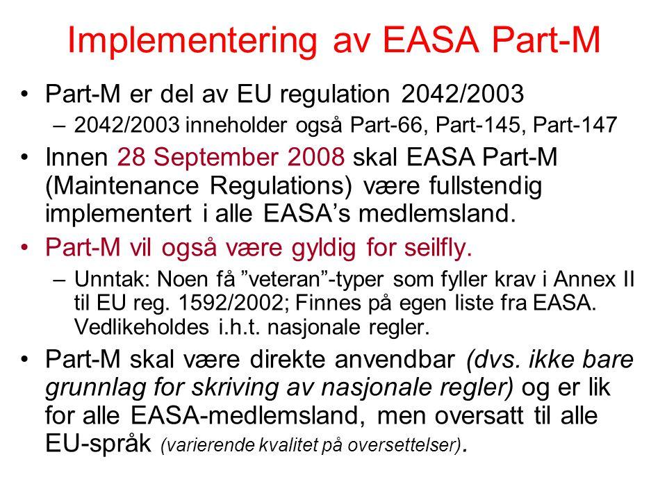 Forkortelser/Begreper Maintenance (Vedlikehold): Fysiske tiltak (f.eks. ettersyn, inspeksjon, komponentbytte, reparasjon) for å opprettholde eller gje