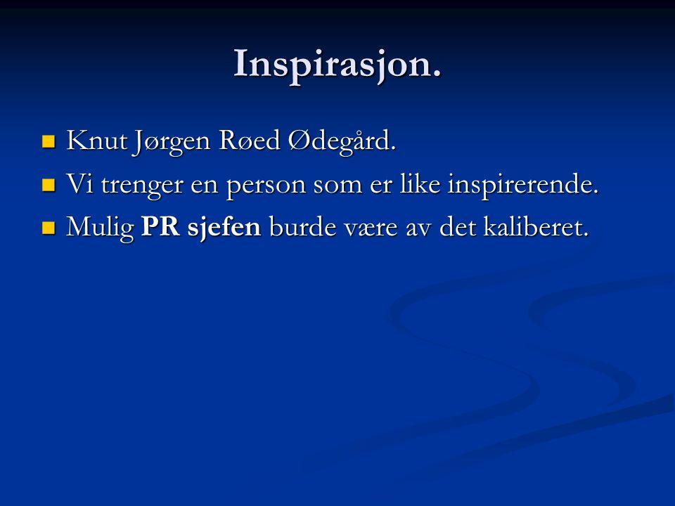 Inspirasjon. Knut Jørgen Røed Ødegård. Knut Jørgen Røed Ødegård.