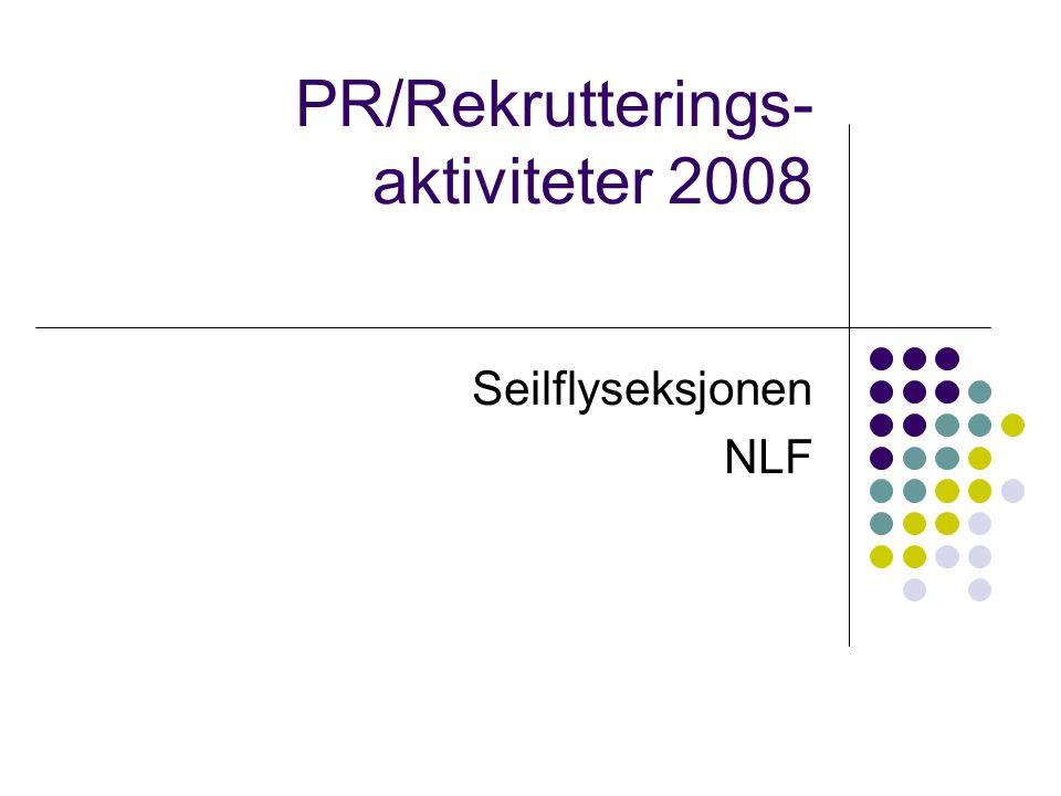 PR/Rekrutterings- aktiviteter 2008 Seilflyseksjonen NLF