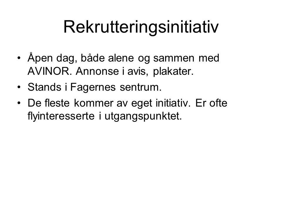 Rekrutteringsinitiativ Åpen dag, både alene og sammen med AVINOR.