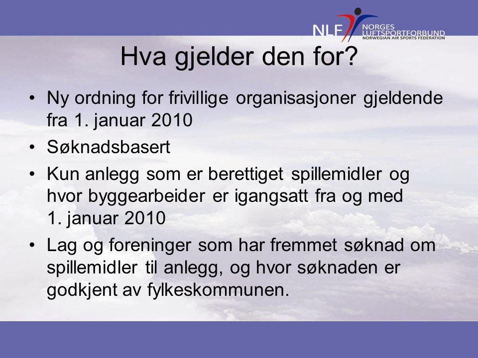 Hva gjelder den for. Ny ordning for frivillige organisasjoner gjeldende fra 1.