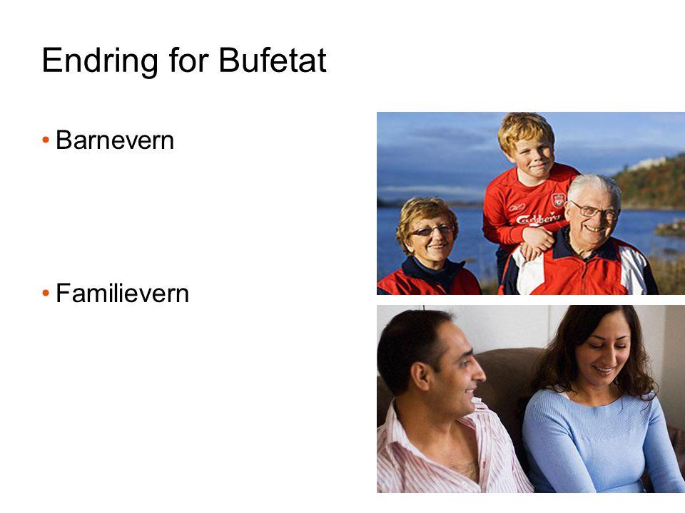 Endring for Bufetat Barnevern Familievern