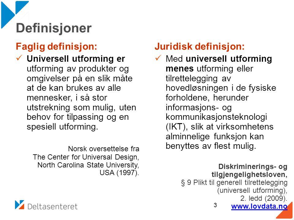 Universell utforming definisjon