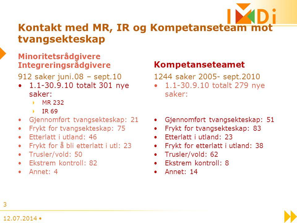 KOMPETANSETEAM MOT TVANGSEKTESKAP 47 80 90 50 kompetanseteamet@imdi.no 12.07.2014 14