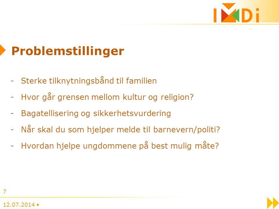 Problemstillinger -Sterke tilknytningsbånd til familien -Hvor går grensen mellom kultur og religion.