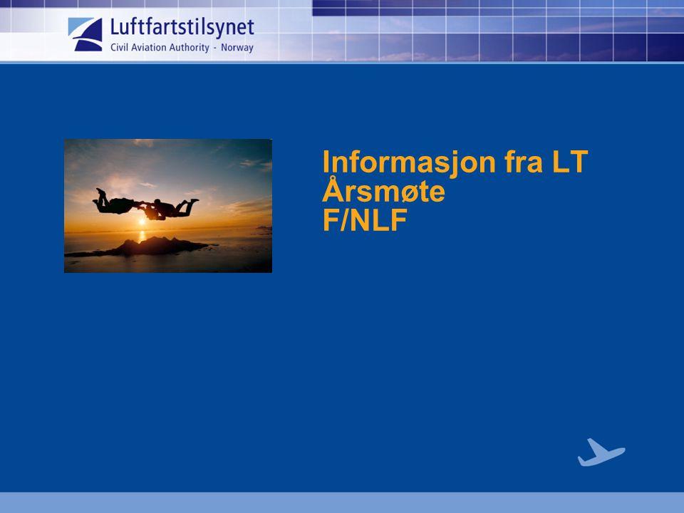 Informasjon fra LT Årsmøte F/NLF