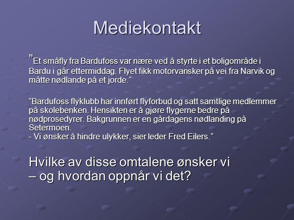 Mediekontakt Et småfly fra Bardufoss var nære ved å styrte i et boligområde i Bardu i går ettermiddag.