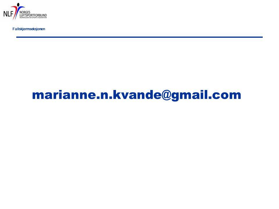 Fallskjermseksjonen marianne.n.kvande@gmail.com