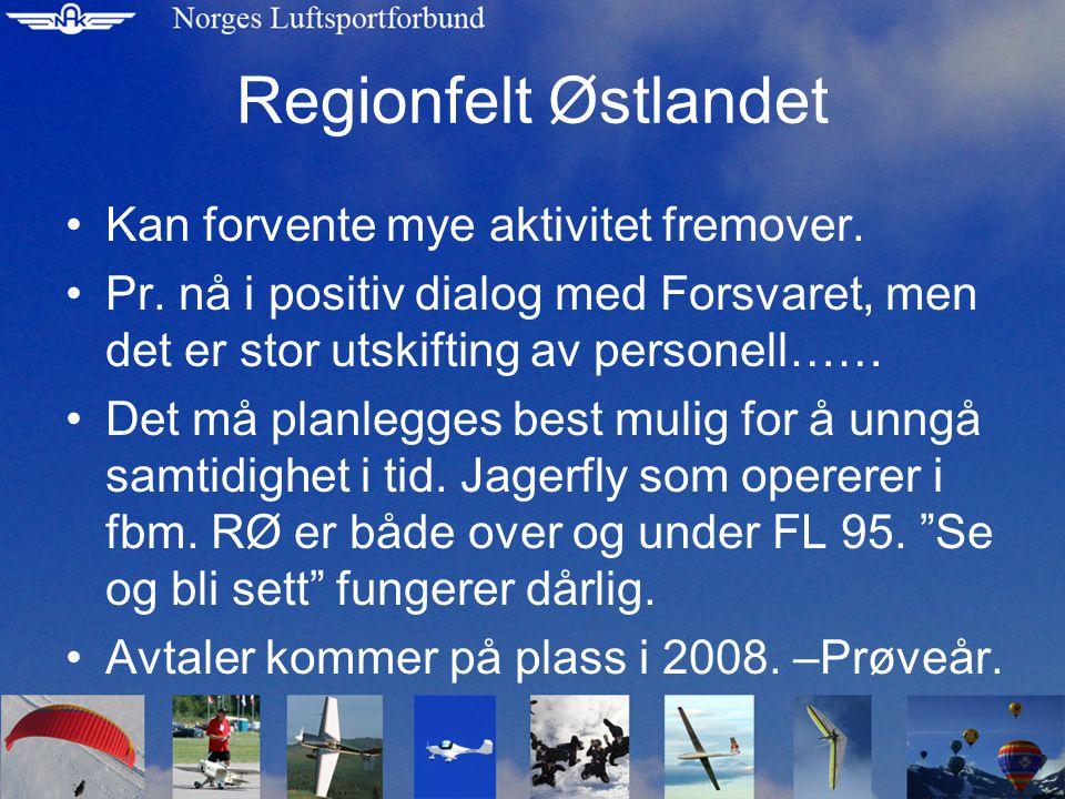 Regionfelt Østlandet Kan forvente mye aktivitet fremover.