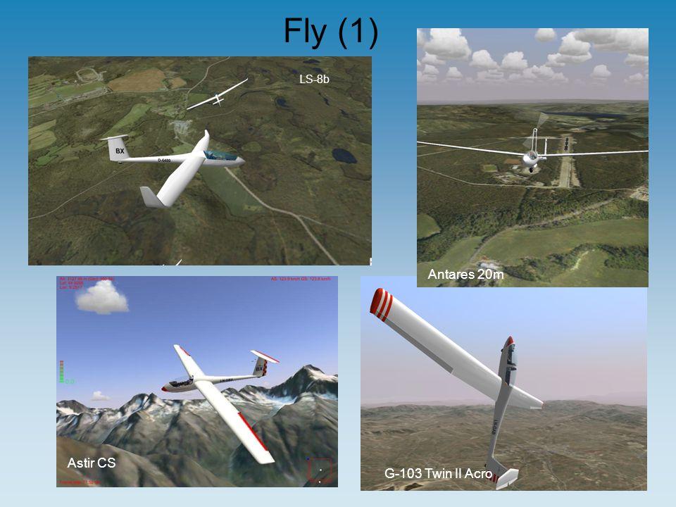 Fly (1) LS-8b G-103 Twin II Acro Antares 20m Astir CS