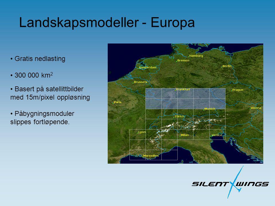 Gratis nedlasting 300 000 km 2 Basert på satellittbilder med 15m/pixel oppløsning Påbygningsmoduler slippes fortløpende.