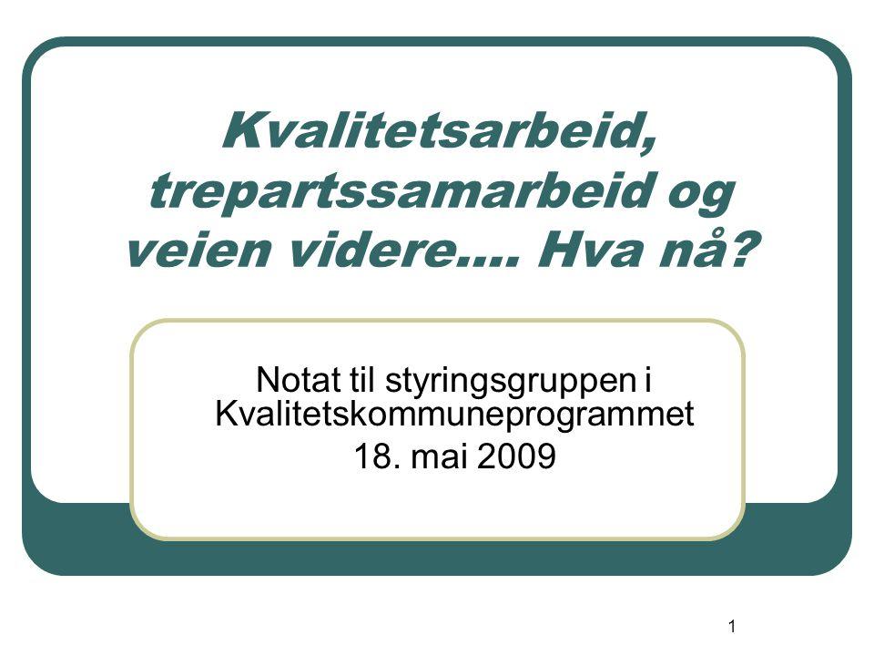 2 Bakgrunn Deltakelse i det nasjonale kvalitetskommuneprogrammet Formidling av resultater i løpet av 2009 Generelt økt fokus på kvalitetsforbedring i den kommunale tjenesteytelsen.