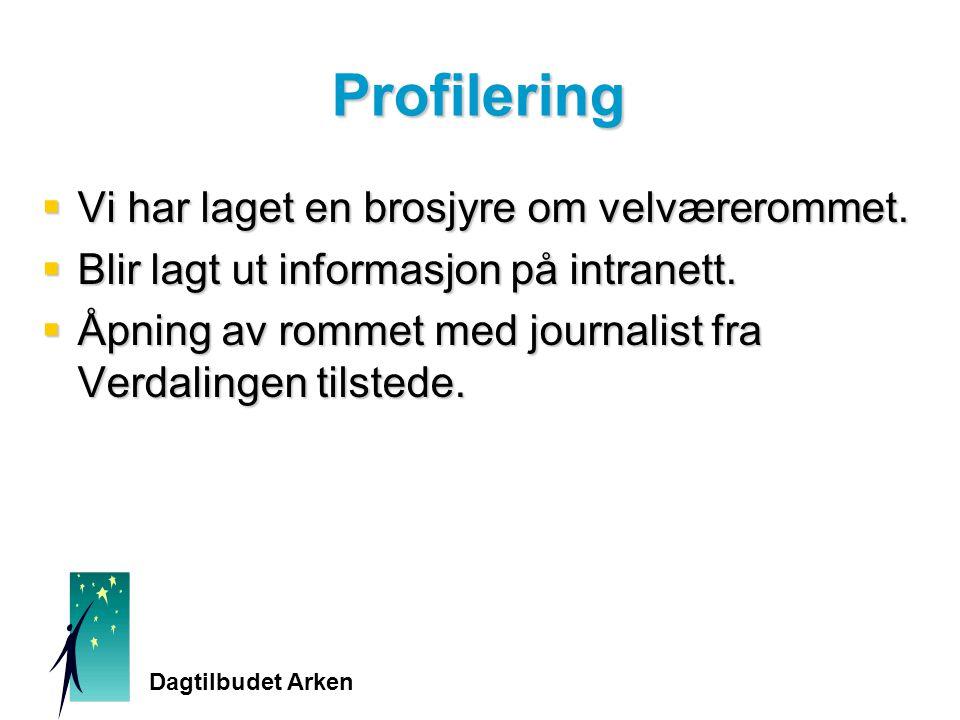 Profilering  Vi har laget en brosjyre om velværerommet.