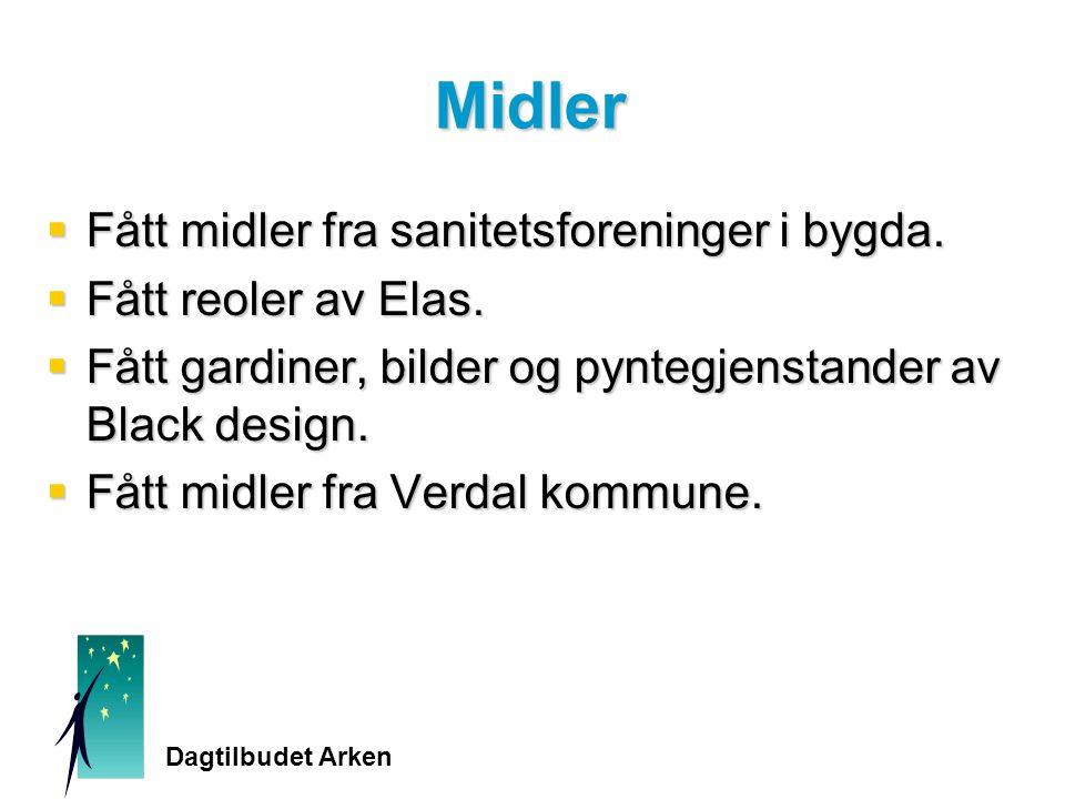Midler  Fått midler fra sanitetsforeninger i bygda.