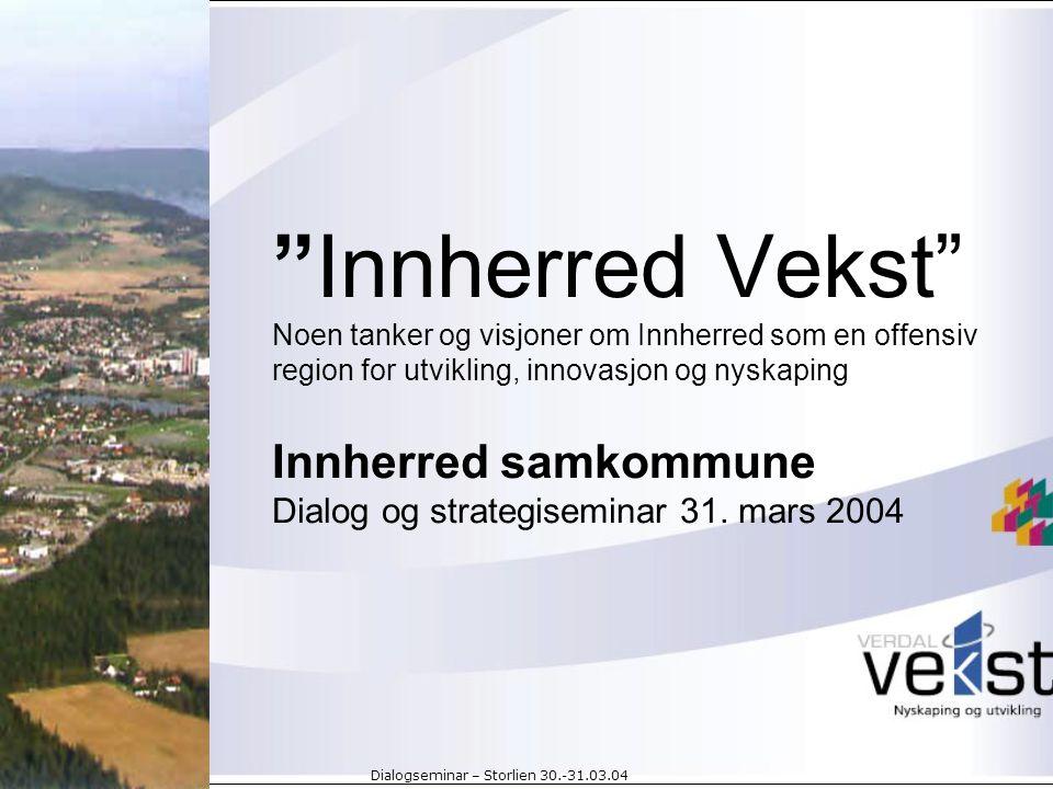 Dialogseminar – Storlien 30.-31.03.04 Utviklings- og kompetanseaktører… NTFK Innovasjon Norge Steinkjer Næringsselskap Verdal Vekst Fylkesmannens landbruksavdeling Innovasjon Midt-Norge Såkornfond, etc.