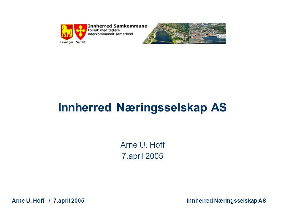 Technology and Society Arne U. Hoff / 7.april 2005Innherred Næringsselskap AS Arne U. Hoff 7.april 2005