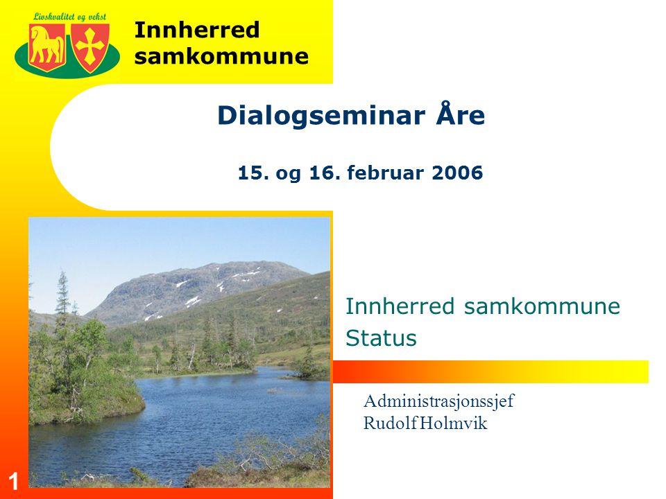 Innherred samkommune 1 Dialogseminar Åre 15.og 16.