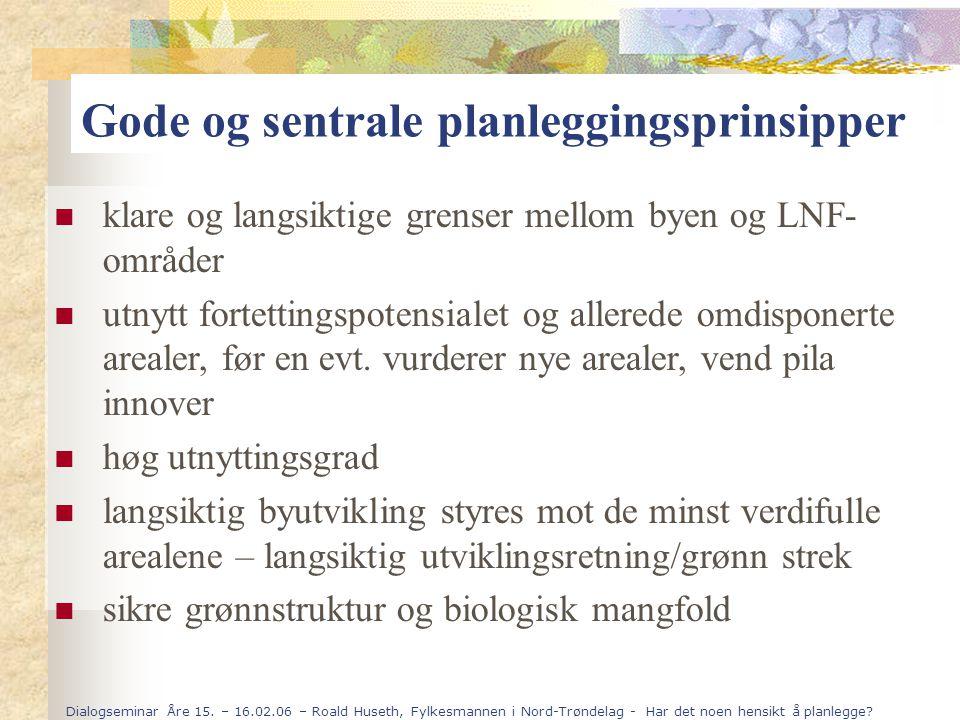 Dialogseminar Åre 15. – 16.02.06 – Roald Huseth, Fylkesmannen i Nord-Trøndelag - Har det noen hensikt å planlegge? klare og langsiktige grenser mellom