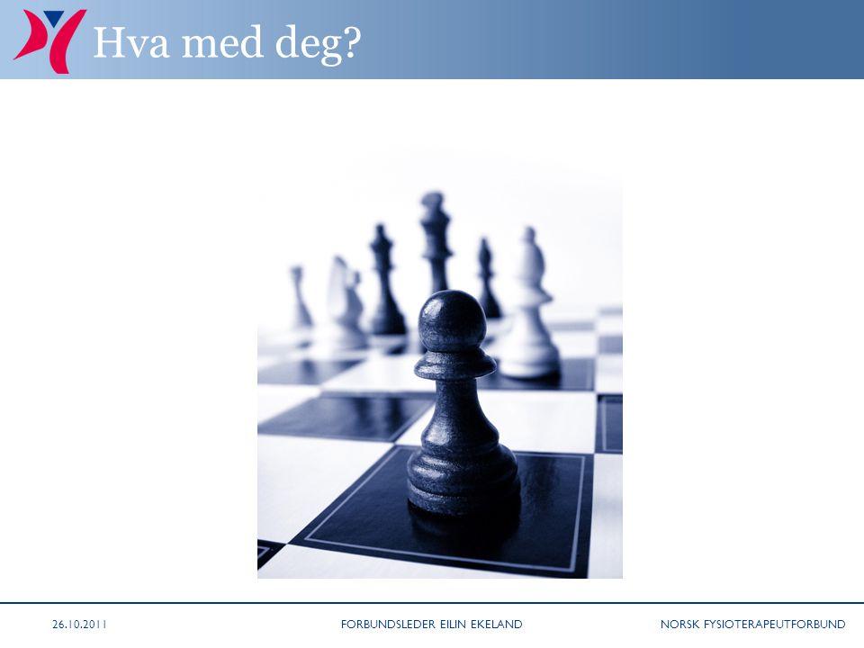 NORSK FYSIOTERAPEUTFORBUND Hva med deg 26.10.2011FORBUNDSLEDER EILIN EKELAND