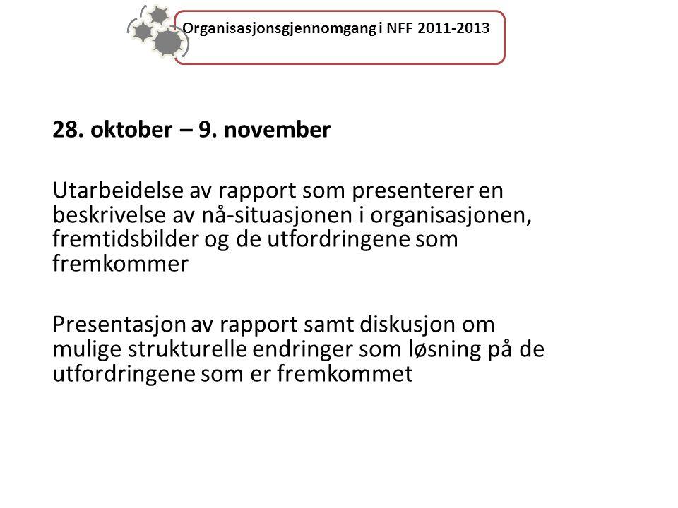 Organisasjonsgjennomgang i NFF 2011-2013 28. oktober – 9.