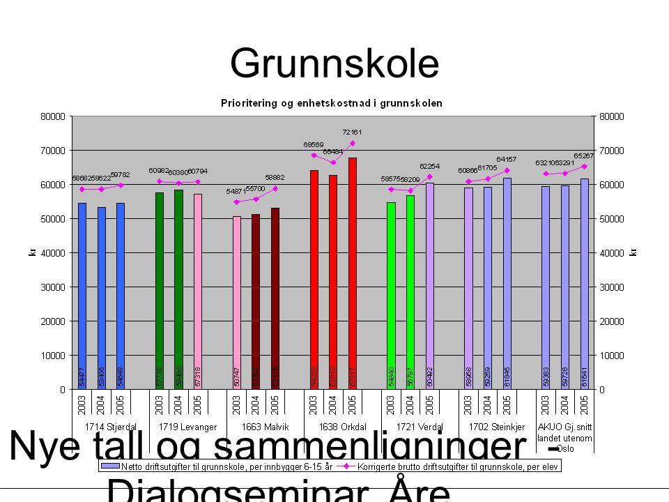 Nye tall og sammenligninger - Dialogseminar, Åre, 13.03.2007 - Øystein Lunnan Grunnskole