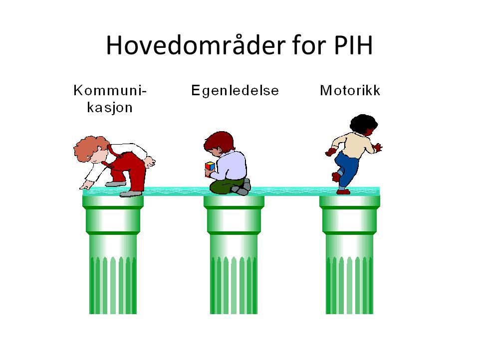 PIH og lignende programmer Tidligere vært mye fokus på motorisk stimulering PIH har også et spesifikt fokus på Egenledelse Viktig å se at dette ikke handler om helt separate funksjoner som kan stimuleres hver for seg.