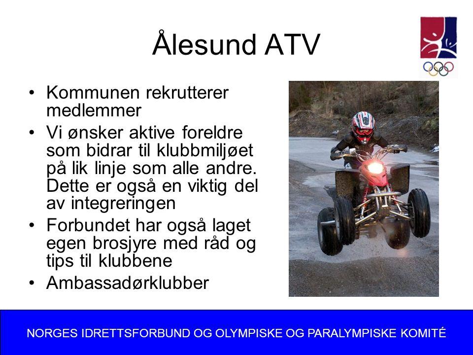 Ålesund ATV Kommunen rekrutterer medlemmer Vi ønsker aktive foreldre som bidrar til klubbmiljøet på lik linje som alle andre.