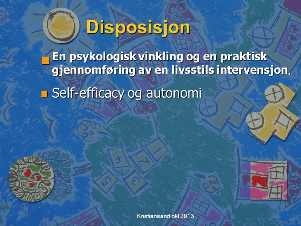 Kristiansand okt 2013 Eksempel - Opplevde virkninger av å være fysisk aktive n Positive virkninger av aktivitet n Negative virkninger av aktivitet