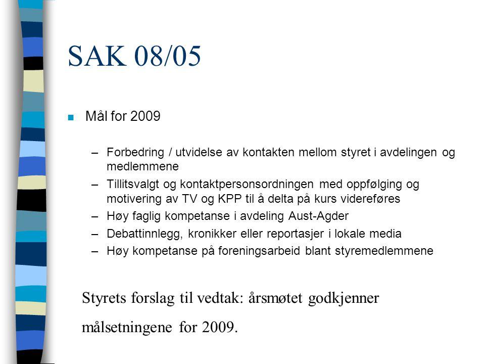 Signatur Sign: Bas van den Beld : Avdelingsleder Sigurd Nielsen: Kasserer Anne Sofie Rønningen, Berit Gundersen: Regnskapskontrollører ARENDAL 12.03.2008