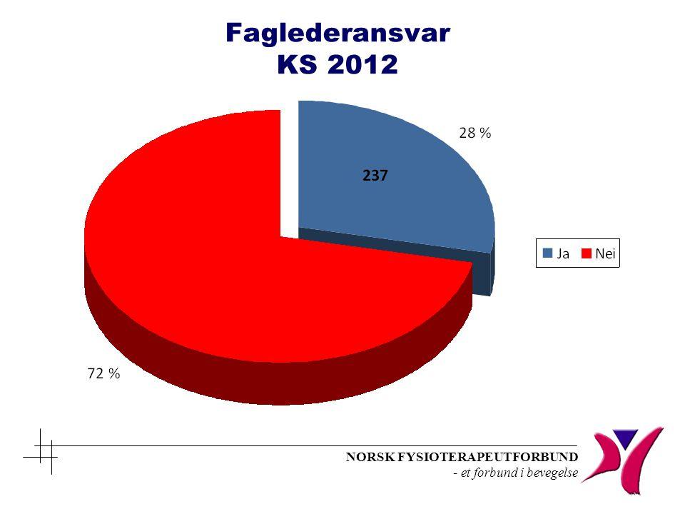 NORSK FYSIOTERAPEUTFORBUND - et forbund i bevegelse Faglederansvar KS 2012
