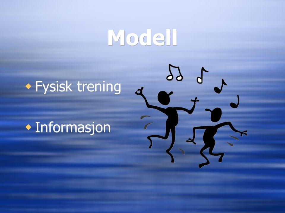 Modell  Fysisk trening  Informasjon  Fysisk trening  Informasjon