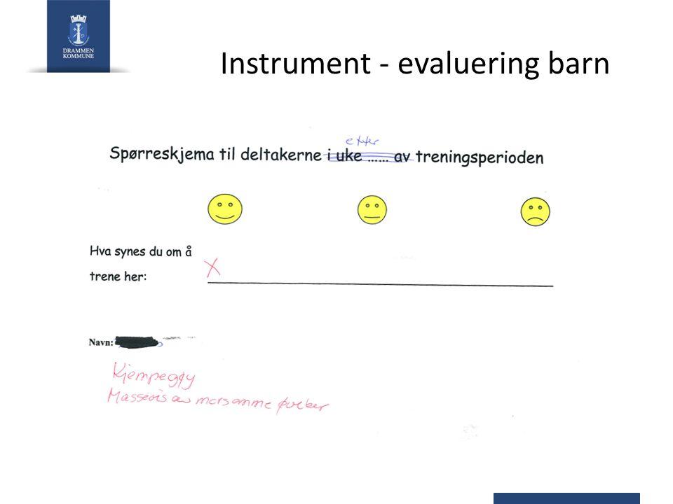 Instrument - evaluering barn