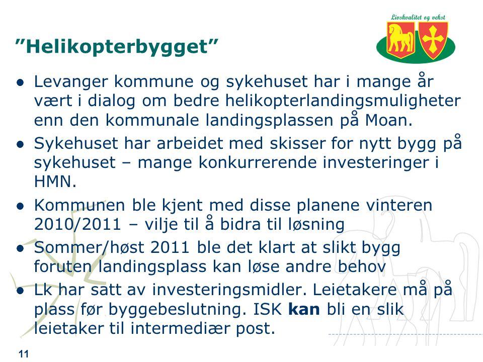 Helikopterbygget Levanger kommune og sykehuset har i mange år vært i dialog om bedre helikopterlandingsmuligheter enn den kommunale landingsplassen på Moan.