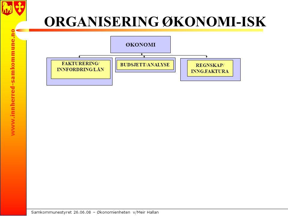 www.innherred-samkommune.no Samkommunestyret 26.06.08 – Økonomienheten v/Meir Hallan INTERNE PROSESSER 2008/09