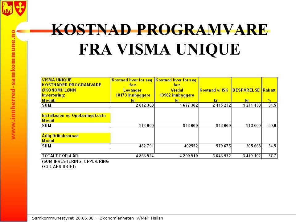 www.innherred-samkommune.no Samkommunestyret 26.06.08 – Økonomienheten v/Meir Hallan Var dette starten på ISK??