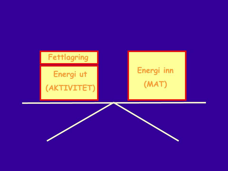 Energi inn (MAT) Energi ut (AKTIVITET) Fettlagring