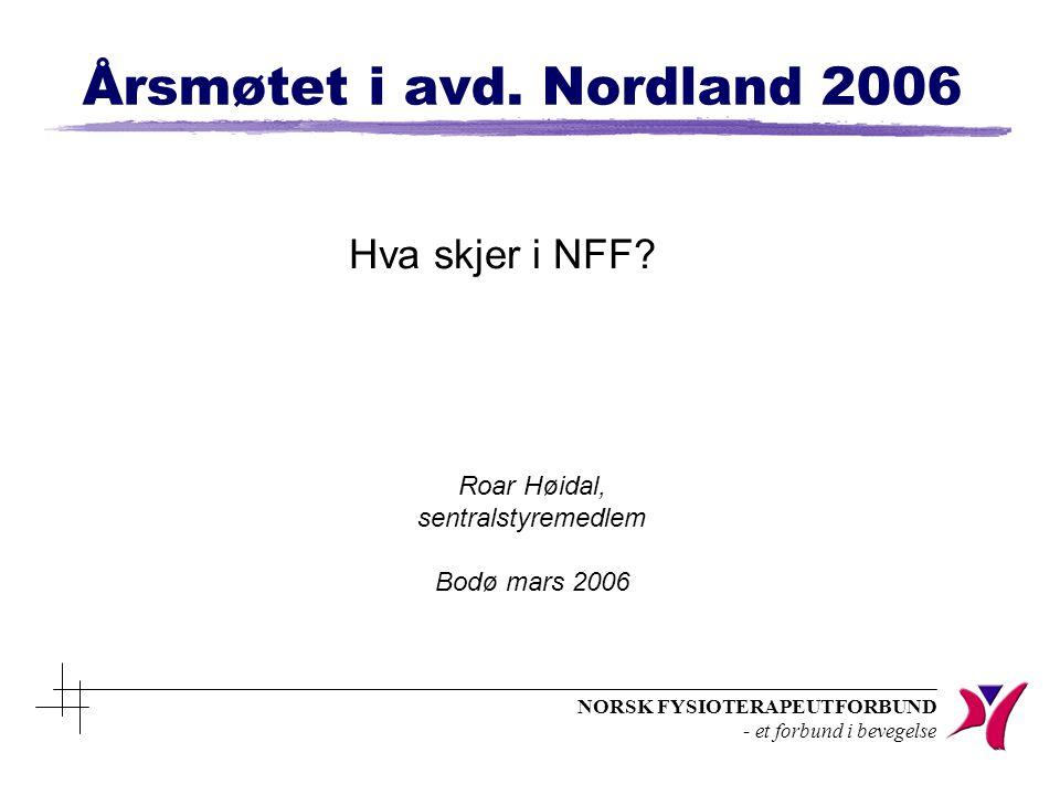 NORSK FYSIOTERAPEUTFORBUND - et forbund i bevegelse Statsbudsjettet 2006 n Fri behandling for barn utvides fra 7 – 12 år n Honorartakstpasienter skal betale kr.