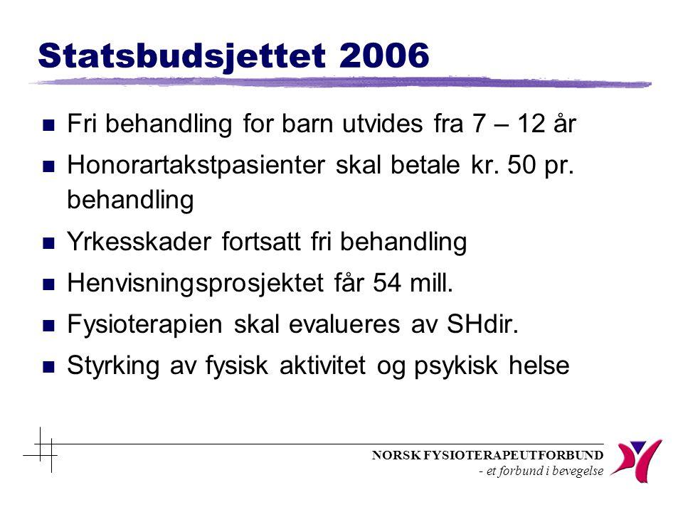 NORSK FYSIOTERAPEUTFORBUND - et forbund i bevegelse 1.