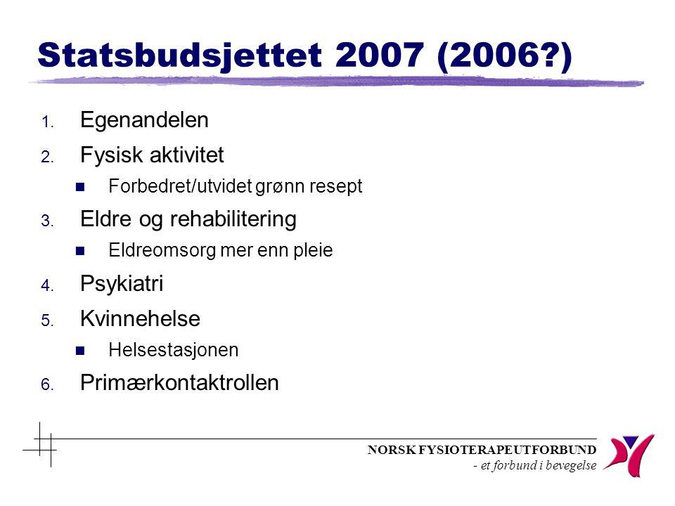 NORSK FYSIOTERAPEUTFORBUND - et forbund i bevegelse n Arbeidsledighet z Bedre tider i vente.
