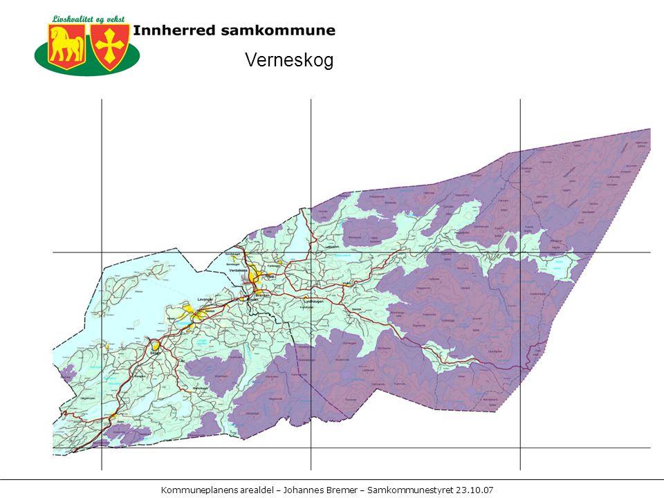 Kommuneplanens arealdel – Johannes Bremer – Samkommunestyret 23.10.07 Verneskog