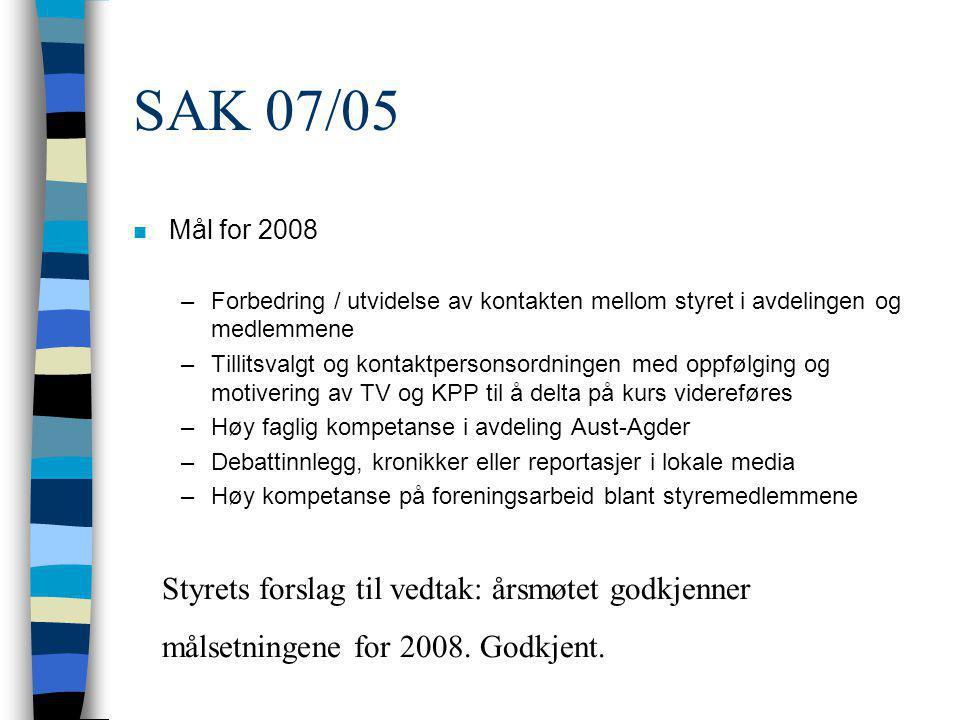 Signatur Sign: Tore Bjørn Pettersen : reg revisor nr 962 836 178 Bas van den Beld : Avdelingsleder Sigurd Nielsen: Kasserer Mari Hoem, Berit Gundersen: Regnskapskontrollører ARENDAL 12.03.2008