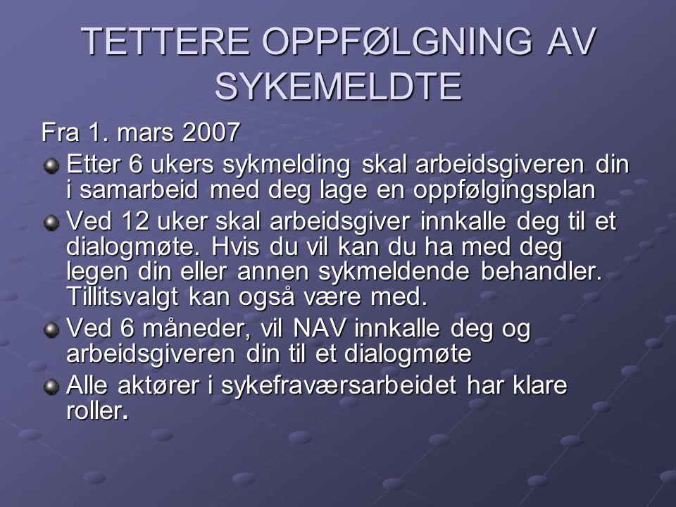 HOVEDMÅL FOR MIN STILLING PR.