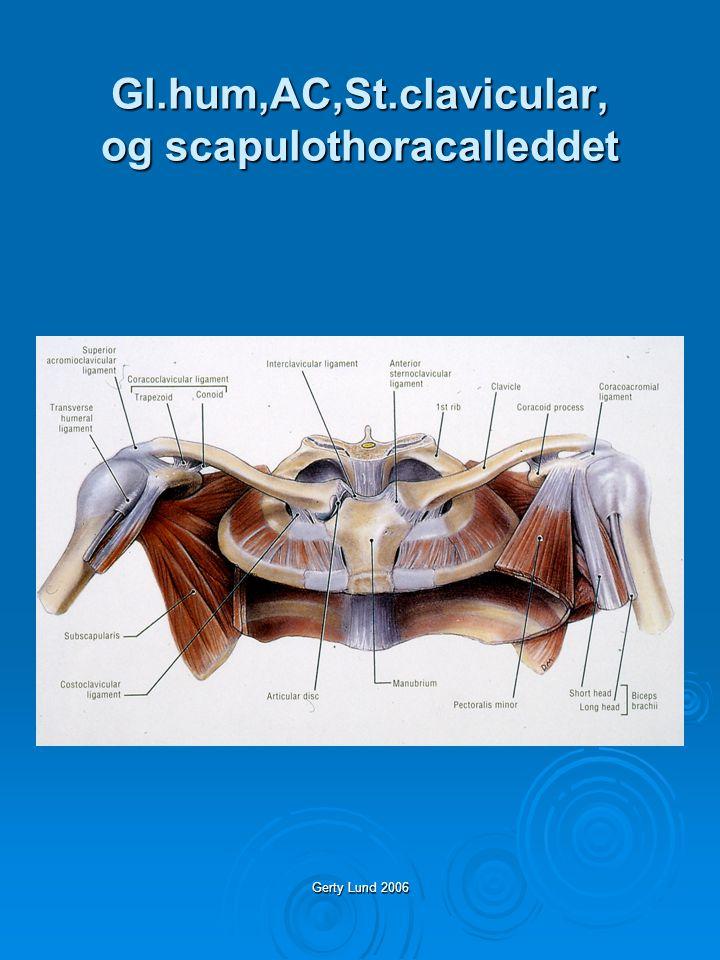 Gerty Lund 2006 Gl.hum,AC,St.clavicular, og scapulothoracalleddet