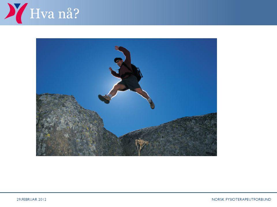 NORSK FYSIOTERAPEUTFORBUND Hva nå 29.FEBRUAR 2012